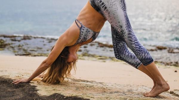 Yogamatte-Strand-Gripp