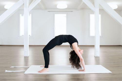 Baumwoll-yogamatte-bruecke